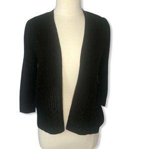 Peyton Primrose Anthro sweater cardigan black